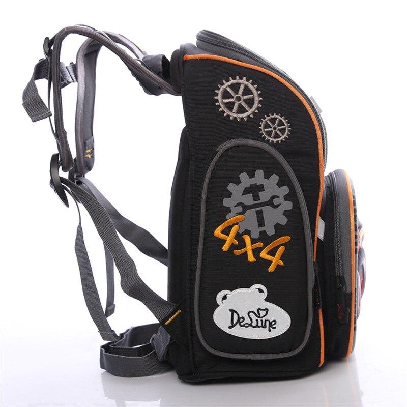 78613a7f3149 Delune 3D Милые Носки с рисунком медведя из мультика характер школьные  сумки детские ортопедические нейлоновый рюкзак школы детская автомобили  школьные ...