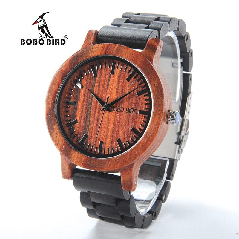 2017 nouveau luxe BOBO oiseau marque hommes montres en bois bande Quartz bois montre-bracelet mâle Relogio C-M05
