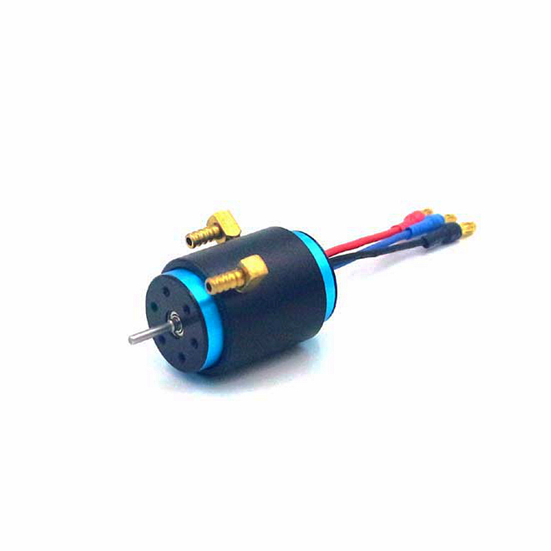 2440 4300KV 4-poles 2.3mm shaft inrunner brushless DC motor 2440-4300KV with water cooling for RC 70cm boat 1/16 1/18 car buggy