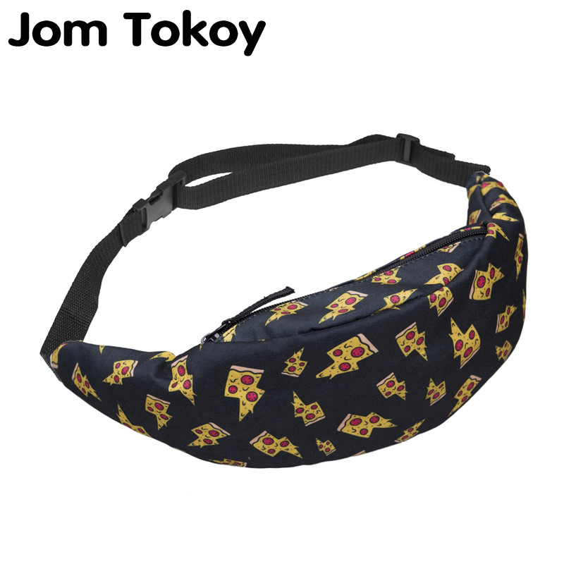 Jom Tokoy New 3D Colorful Waist Pack For Men Fanny Pack Style Bum Bag Unicorn Women Money Belt Travelling Waist Bag