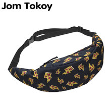 Jom Tokoy New 3D Colorful Waist Pack for Men Fanny Pack Style Bum Bag unicorn Women Money Belt Travelling waist Bag(China)