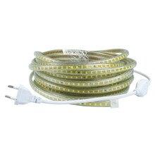 220V Waterproof Led strip light with EU Plug 2835 SMD flexible Rope Light,120 Leds/M  high brightness outdoor indoor decoration