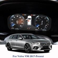 Для Volvo V90-настоящее gps навигации Экран Стекло защитная пленка приборной панели дисплей для автомобиля внутренний наклейки на автомобиль