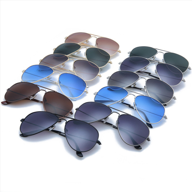 New Arrival 2016 Vintage Aviator Sunglasses For Women And Men brand designer retro round ray ba Ocean sunglasses women
