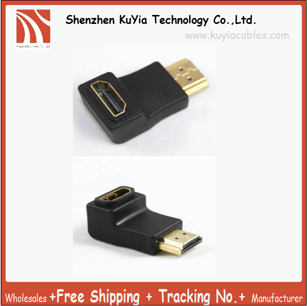 Guaranteed 100% HDMI Male Female Plated 90 Degree Adapter Convertor  Angle Adapter  For Projector (HDMI CONVERTER)