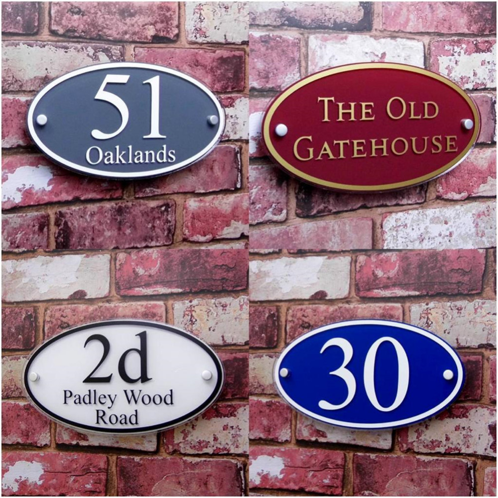 250*140mm Customized Transparent Acrylic House Number Plaques Sign Plates House Signs Door Number Signs with Vinyl Films customized transparent acrylic house number plaques sign plates door number street name plates house signs with frosted films