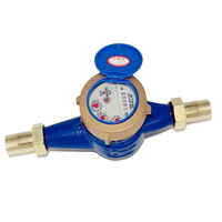 DN20 3/4 Garden Home Cold Water Meter Single Water Flow Dry Table Measuring Tools 190*90*100mm