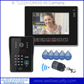 "9"" LCD Video Door Phone Doorbell Intercom  IR Night Vision Camera RFID Reader Paaword Wired Doorphone Home Security"