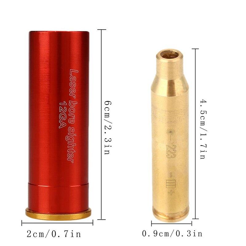 Rem Gauge Laser Bore Sighter Red Dot 12GA/243 7mm-08/308/. 223Rem/9mm Calibre Cartouche Sight Laser Pour Pistolet Gun fusil