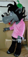 Mascot costume wait and see mascot big bad wolf mascot costume cosplay free shipping