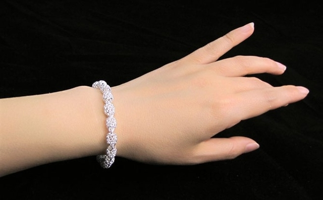 LEKANI New Fashion Charm Bracelets For Women Luxury women's 925 Sterling Silver Wedding Bracelets & Bangles Fine Jewelry 5