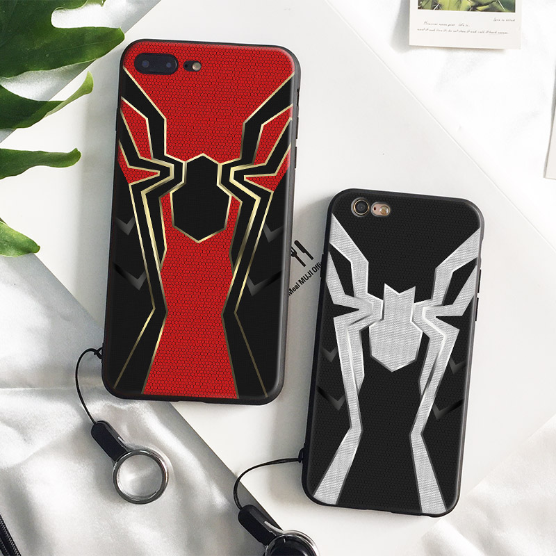 on sale 340f1 e01b7 US $3.27 18% OFF|Iron Spider man Infinity War Spider Man Soft Silicone  Phone Case Cover Shell For Apple iPhone 5 5s Se 6 6s 7 8 Plus X XR XS  MAX-in ...