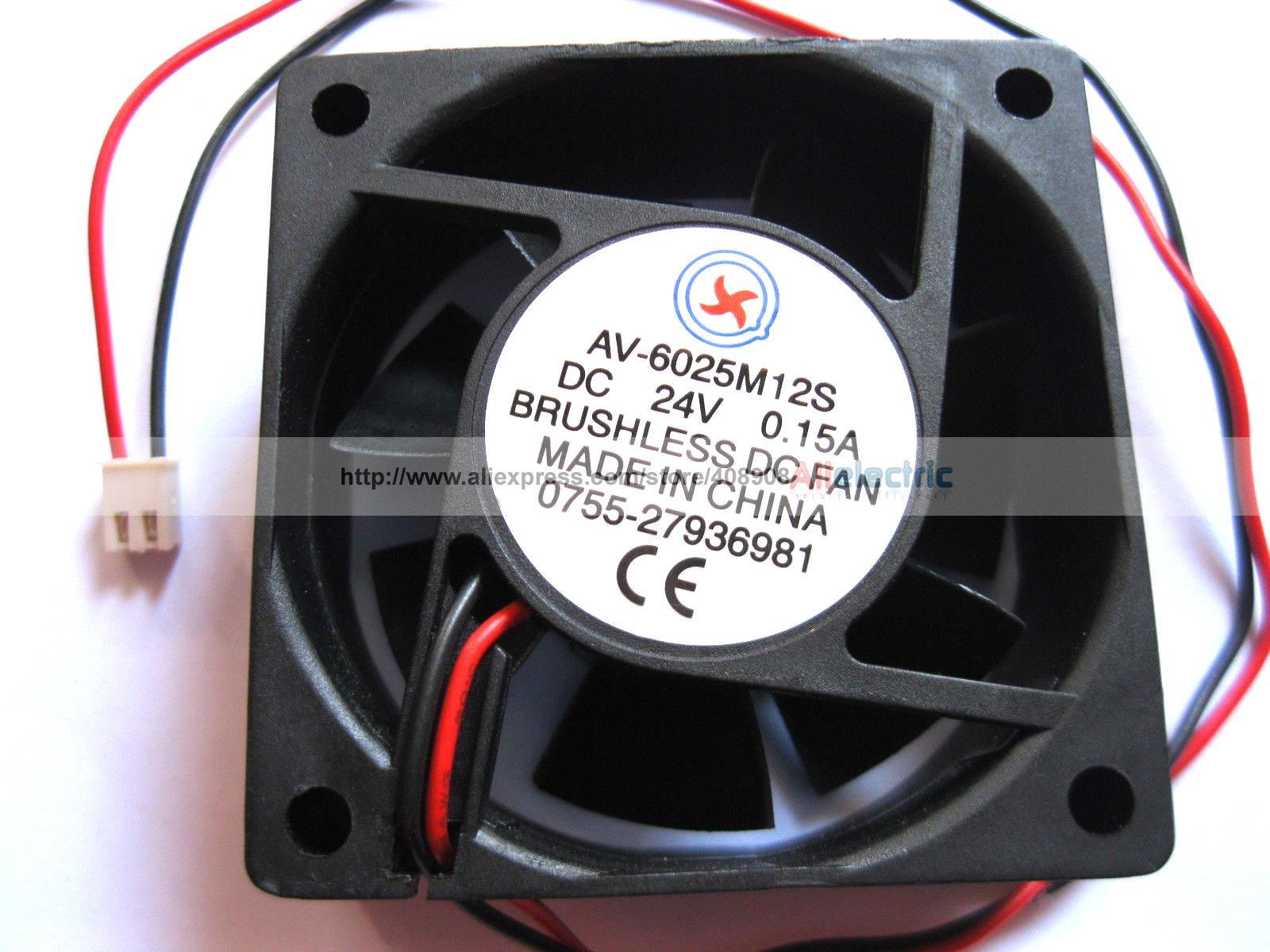 ФОТО 10 Pcs Brushless DC Cooling 7 Blade Fan 6025s 24V 60x60x25mm 2pin