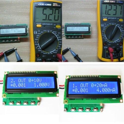 ФОТО Digital LED 0-10V Voltage Generator 4-20mA Current Signal Generator Transmitter with 1602 Display backlight
