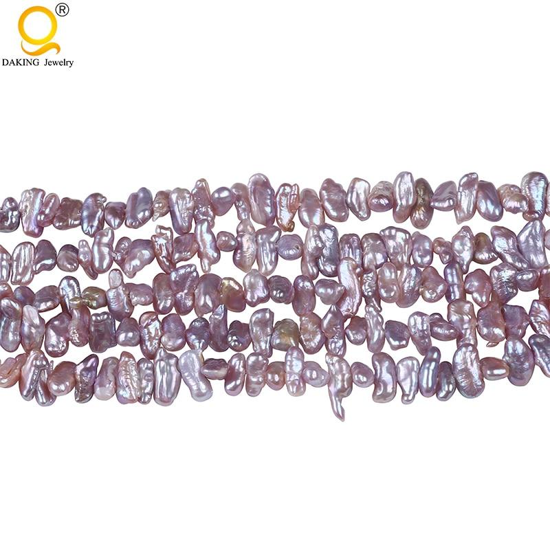 6*12 мм Натуральная AA Барокко Форма реборн Кеши жемчуг 16 дюймов DIY ожерелье браслет серьги