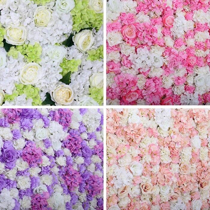 40x60 cm fleur artificielle toile de fond pour mariage anniversaire bébé douche fête décor mur romantique mariage décor soie Rose