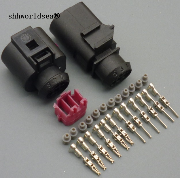 Shhworldsea 1sets 6 Pin 3B0973813 1J0973713 1.5mm Auto Temp Sensor Plug Waterproof Electrical Wire Connector For Car Truck