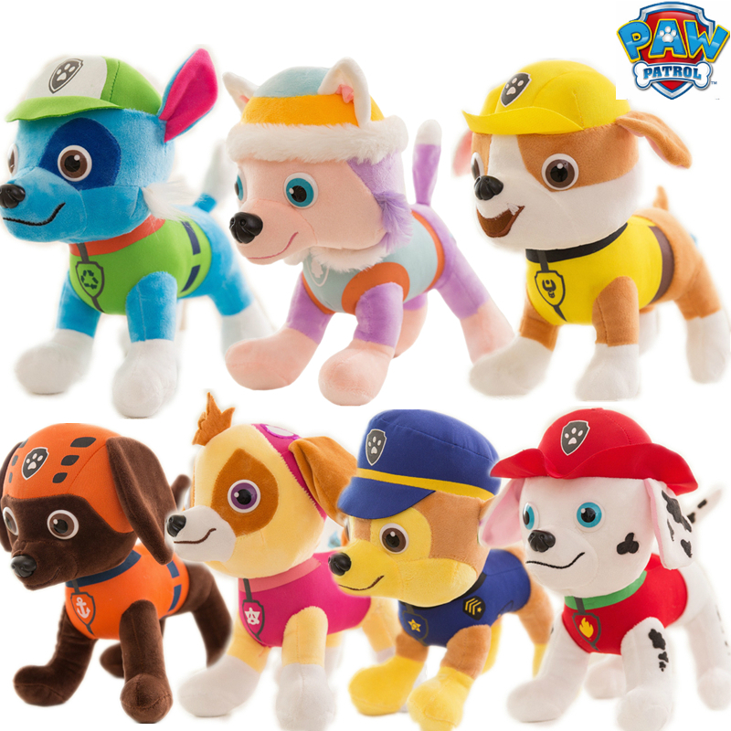 New Paw Patrol Dog Puppy Stuffed Plush Toy Doll Everest 7 set Patrulla Canina Action Anime figure Toys For Children Best Gift in Movies TV from Toys Hobbies
