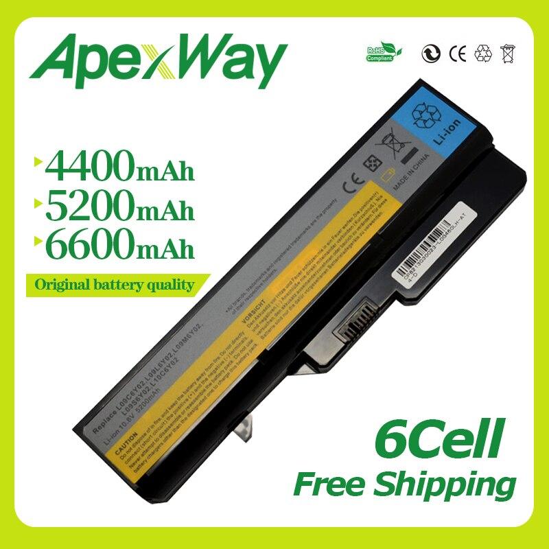 Apexway 11.1 V batterie dordinateur portable pour Lenovo L09S6Y02 LO9L6Y02 pour IdeaPad G460 G465 G470 G475 G560 G565 G570 G575 G770 Z460Apexway 11.1 V batterie dordinateur portable pour Lenovo L09S6Y02 LO9L6Y02 pour IdeaPad G460 G465 G470 G475 G560 G565 G570 G575 G770 Z460