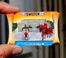Sweden Stockholm travel resin refrigerator stickers