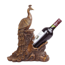 Resin Sculpture Wine Rack Decoration Figurine Animal Peacock Wine Holder Wine Bottle Holder Accessories Decoration Gifts fashion quality rose household wine rack baijiu home decoration iron wine holder