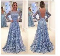 С длинным рукавом Кружева платья невесты 2018 Иллюзия цветок Свадебная вечеринка платье спинки невесты фрейлина платья vestido Q017