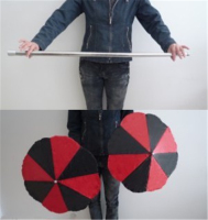 Magic Wand To Umbrella Cane Into Two Umbrellas Magic Tricks Stage Gimmick Illusion Props Appearing Comedy