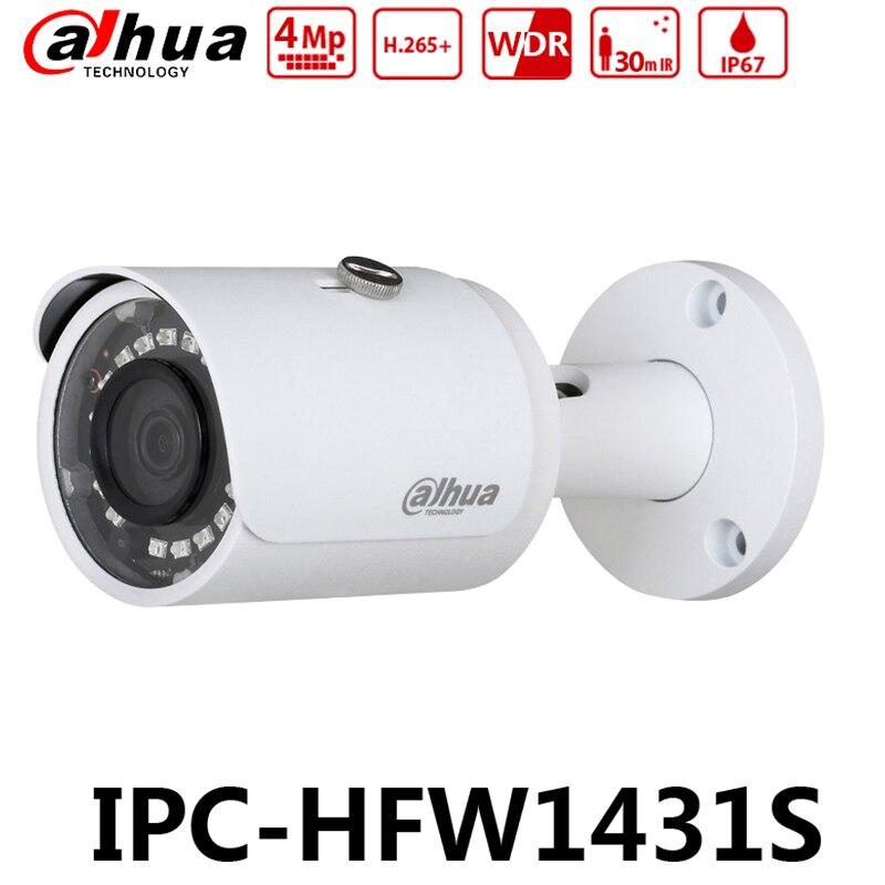 Dahua Original IPC HFW1431S with LOGO 4MP WDR IR30m Mini Bullet Camera IP67 Upgrade from IPC