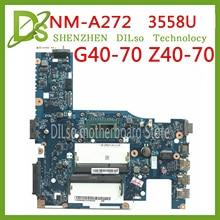 KEFU NM-A272 For Lenovo g40-70 Z40-70 motherboard ACLUA/ACLUB NM-A272 I7 Rev1.0 3558U cpu Tested original work цена