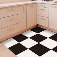 Black & white grid style PVC floor sticker Bedroom Study Room waterproof non slip wear resistant floor stickers home decoration