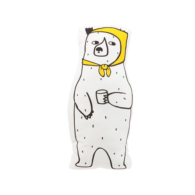 Urso Branco bonito Cachecol Travesseiro Decoração Do Quarto Do Bebê Da Lona Criança Almofada de Algodão Recém-nascidos de pelúcia Macia Cama Quente Em Estoque Crianças presente