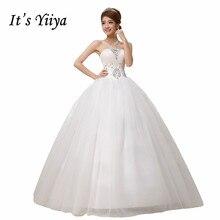 Free Shipping Sequins Strapless Wedding Dresses Princess White Bridal Frocks Ball Gowns Custom Made Vestidos De Novia MH23
