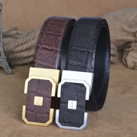 2016 New Design High Quality Brand Belt Genuine Leather Luxury For Men Trousers Cow Skin First