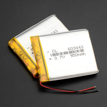1/2/4 pcs 3.7V 950mAh 603443 Lithium Polymer Li-Po Rechargeable li ion Battery For Mp3 MP4 GPS power bank electronic DVD part