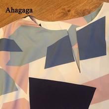 Ahagaga 2017 Summer Dress Women Fashion Print Elegant Cute Sashes O-neck Sexy Slim Sheath Dress Women Dresses Vestidos Robes