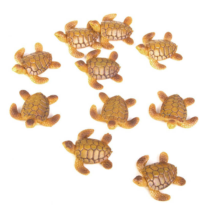 10pcs Doll House Miniature Bonsai Fairytale Garden Landscape Crafts Sea Turtle Decoration