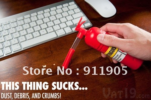 Freeshipping Brand New Desktop Cleaner Mini Desk Fire Extinguisher Vacuum Notebook Computer Portable