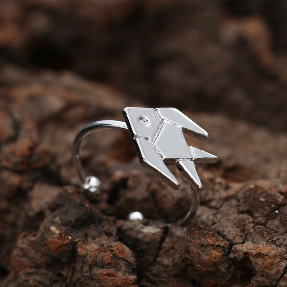Qiamni 10pcslot wholesale adjustable cute origami tropical fish qiamni 10pcslot wholesale adjustable cute origami tropical fish wrap rings for women and girls jewelry in rings from jewelry accessories on jeuxipadfo Images