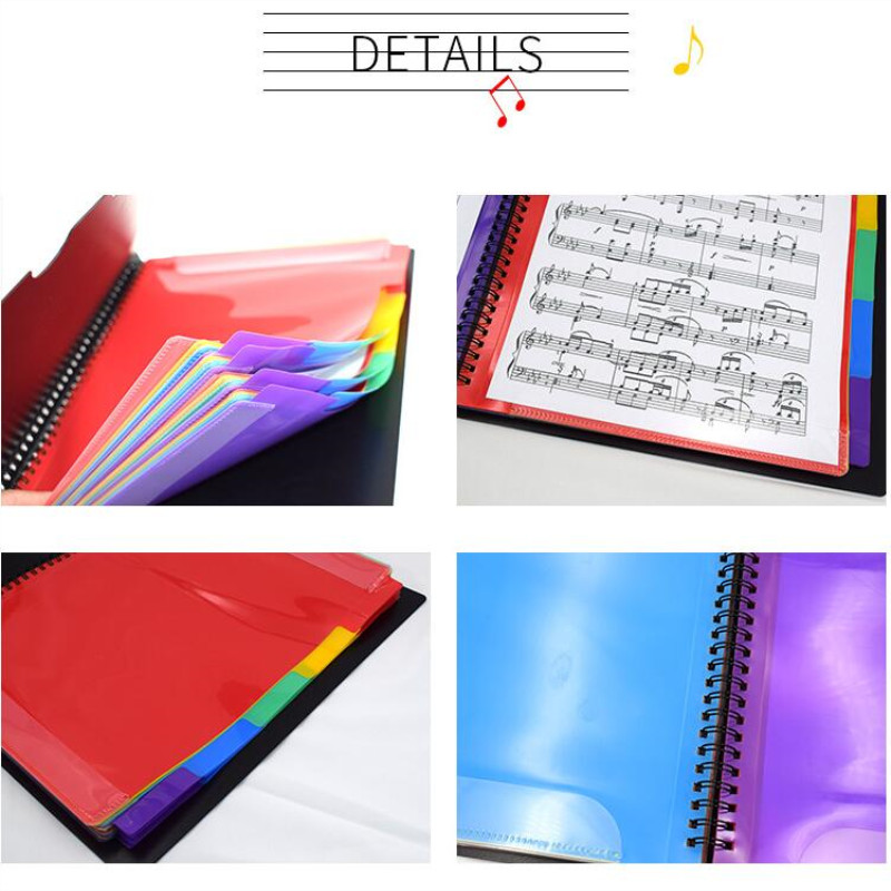 Image 4 - Multi layer color waterproof music folder file plastic data bag Filing Products document bag A4 music folder 20 pages-in File Folder from Office & School Supplies