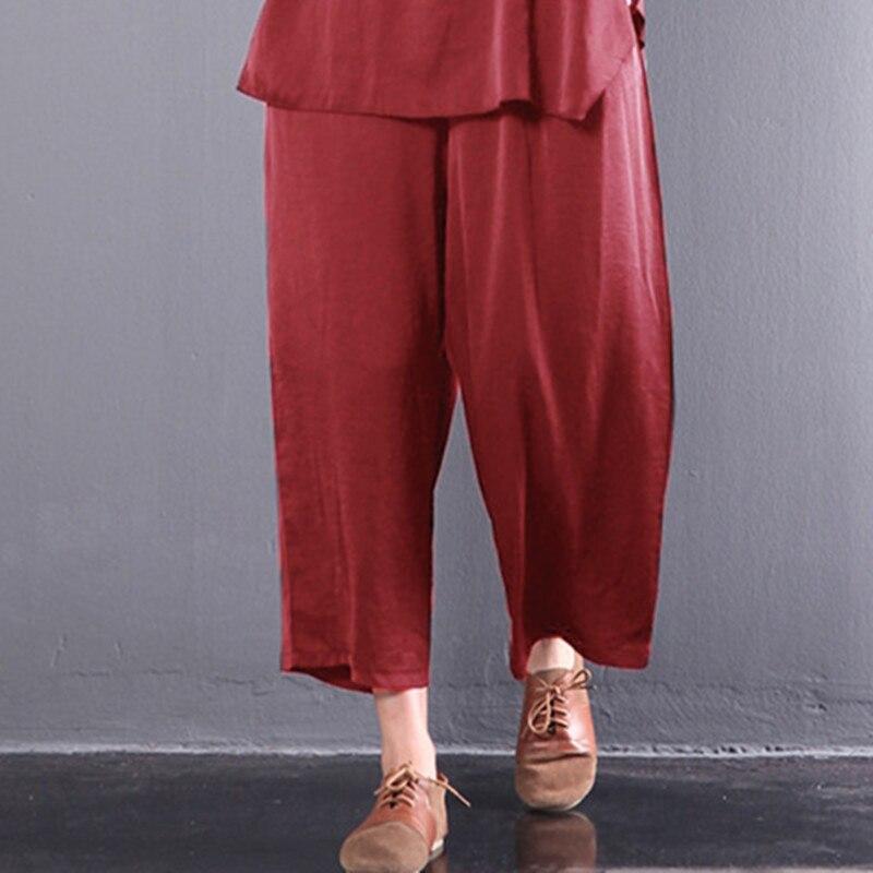 Celmia Women   Wide     Leg     Pants   Elastic Waist Casual Loose Solid Trousers Female Breathable 2019 Korean Style   Pants   Plus Size 5XL