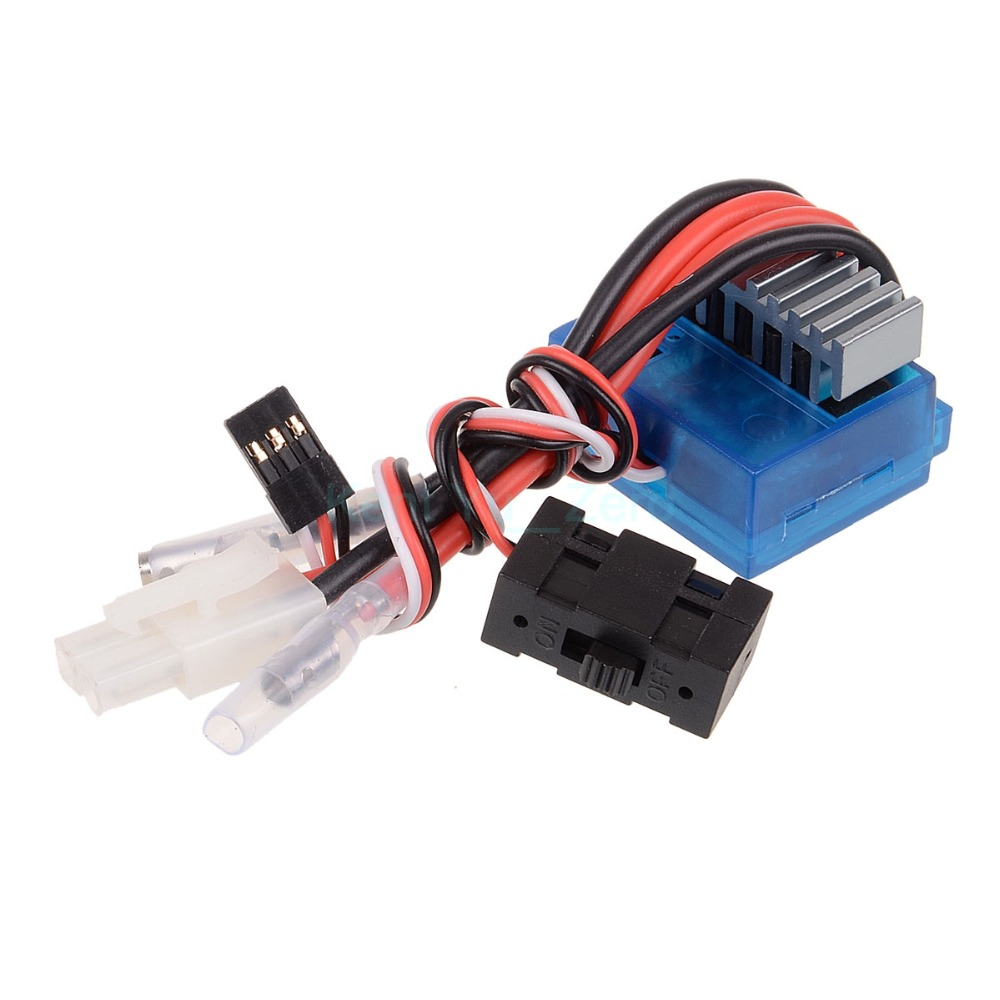 03018 Blue 320A Water Proof BRUSHED ESC Brush Speed Controller RC 1/10 Car, For 1:10 RC Electric Car Spare Parts