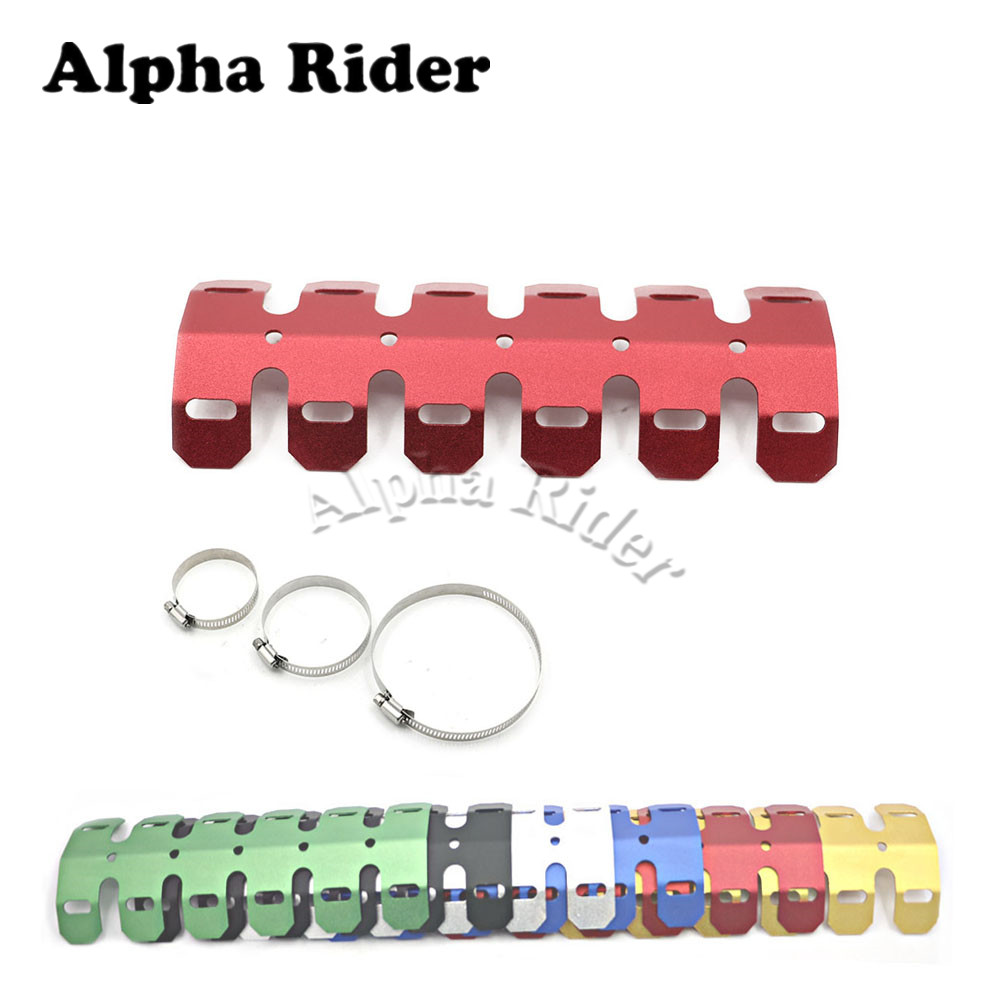 Motorcycle Accessories & Parts Exhaust & Exhaust Systems Dynamic 252mm For Honda Crf 250 450 L/r Crf230m Crf230l Ftr Cr Crf Xr Xl Crm Exhaust Muffler Pipe Leg Protector Curve Heat Shield Cover Beautiful And Charming