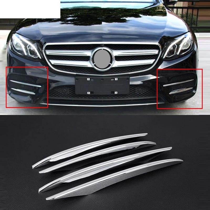 Chrome Front Fog Light Cover Trims For Mercedes E-Class 2017-2020 Accessories