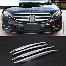 4 шт. ABS Chrome передние противотуманные Крышка лампы Накладка для Mercedes Benz E Class W213 E200 E300 2016 2017 E43 AMG ремонт автомобилей-Стайлинг Аксессуары
