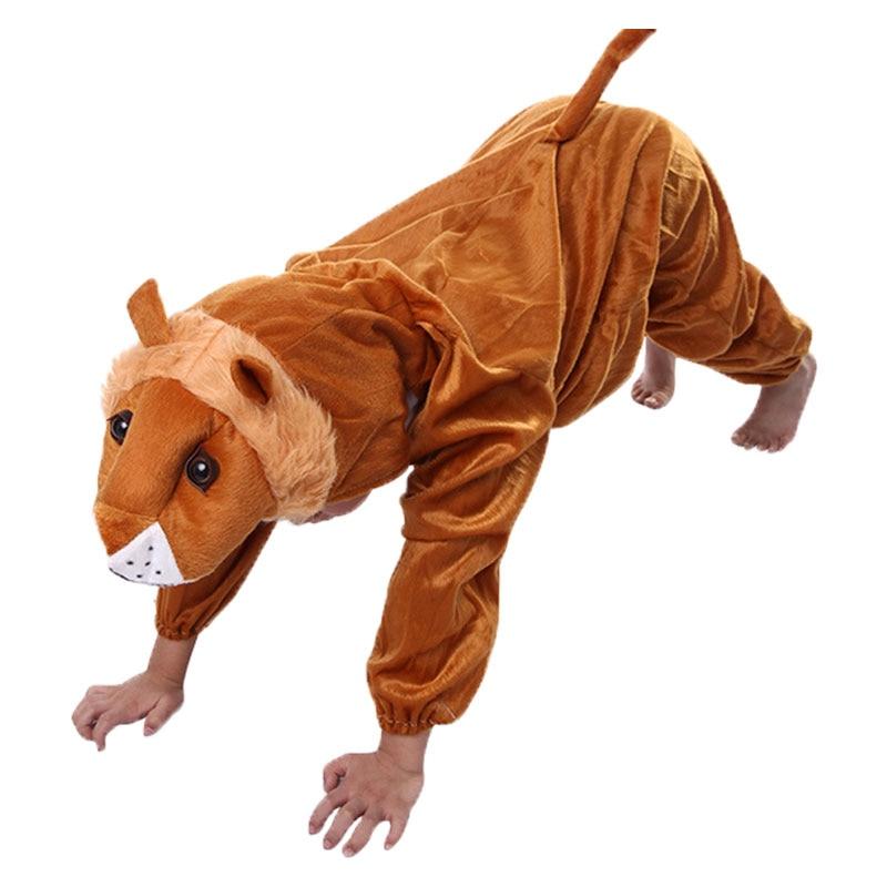 Umorden Barn Barn Toddler Pajama Tecknad Djur Lion Kostym Prestanda - Maskeradkläder och utklädnad - Foto 2
