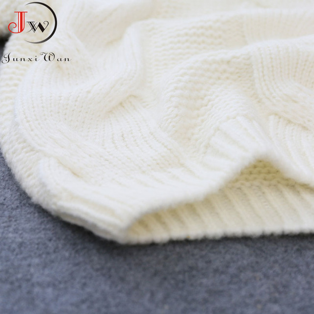 Autumn Winter Short Sweater Women Knitted Turtleneck Pullovers Casual Soft Jumper Fashion Long Sleeve Pull Femme 5