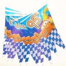 2.5m/set Lightning Mcqueen Banner Flag Birthday Party Supplies Cartoon Decoration Set