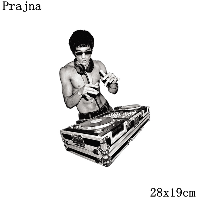 choose original dirt cheap harmonious colors US $1.69 30% OFF Prajna Rock DJ Iron On Patches Bruce Lee Heat Transfer  Chinese Kung Fu Patch For Clothes DIY Hot Viny Patch T shirts Appliques-in  ...