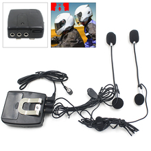 цена на Universal Helmet Headsets 2 Way Intercom Communication System Interphone 3.5MM Plug with MIC Micphone for Motorcycle Motorbike
