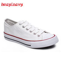 huayi navy Canvas Shoes Women Fashion Vulcanize Shoes 2018 Summer Casual White Couple Sneakers Women Shoes zapatillas mujer
